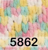 Пряжа Alize Puffy Color 5862