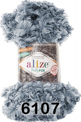 Пряжа Alize Puffy Fur 6107
