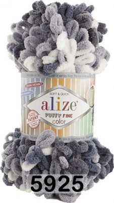 Пряжа Alize Puffy Fine Color 5925