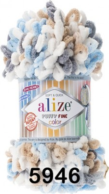 Пряжа Alize Puffy Fine Color 5946